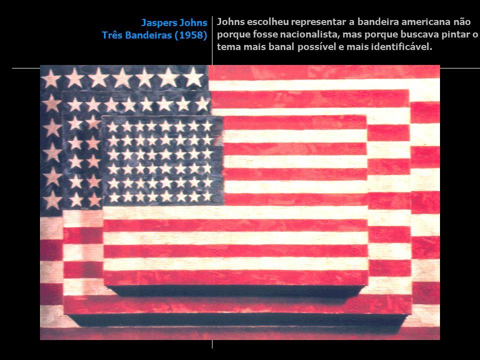 Johns escolheu representar a bandeira americana não porque fosse nacionalista, mas porque buscava pintar o tema mais banal possível e mais identificável.