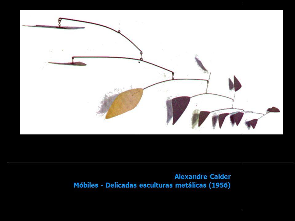 Alexandre Calder Móbiles - Delicadas esculturas metálicas (1956)