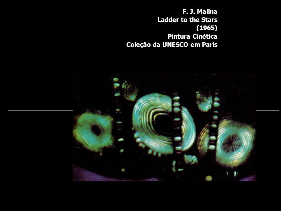 F. J. Malina Ladder to the Stars (1965) Pintura Cinética Coleção da UNESCO em Paris