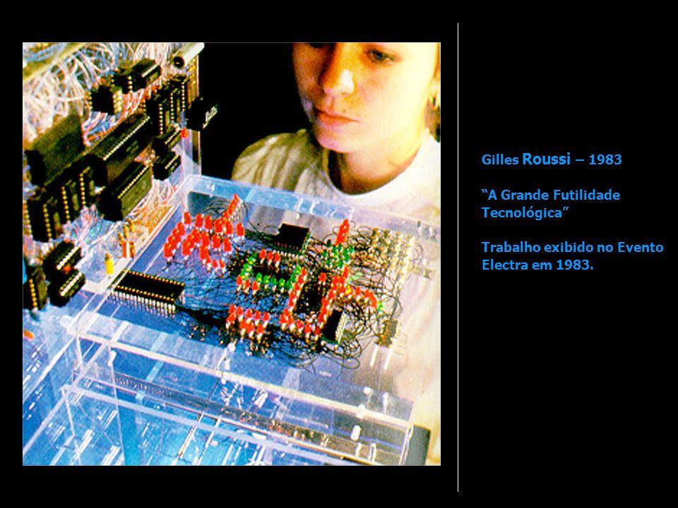 Gilles Roussi – 1983 A Grande Futilidade Tecnológica Trabalho exibido no Evento Electra em 1983.