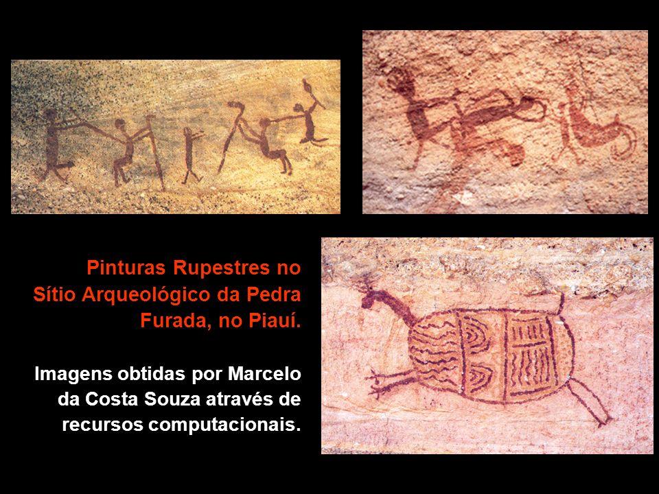 Pinturas Rupestres no Sítio Arqueológico da Pedra Furada, no Piauí