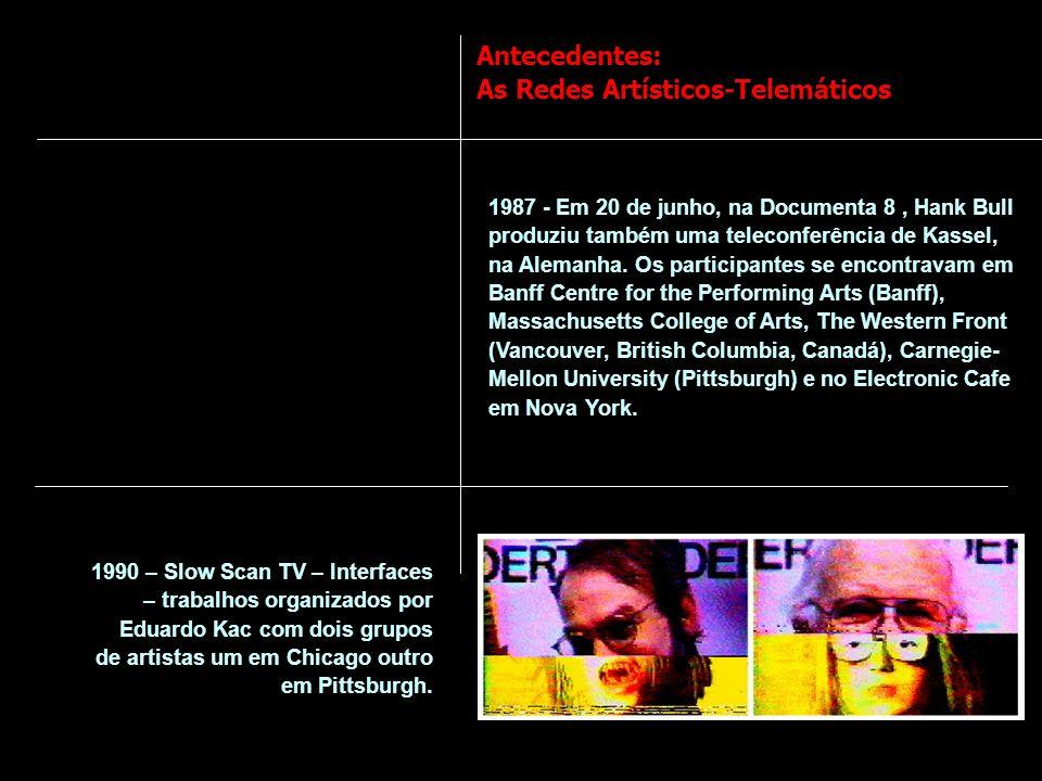 Antecedentes: As Redes Artísticos-Telemáticos