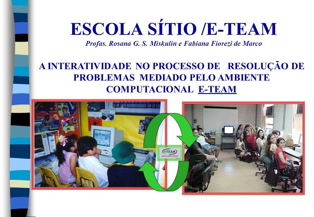 ESCOLA SÍTIO /E-TEAM Profas. Rosana G. S