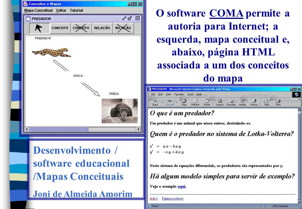 Desenvolvimento / software educacional /Mapas Conceituais