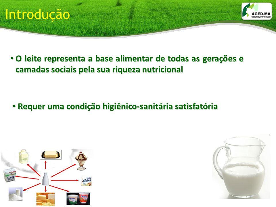Introdução O leite representa a base alimentar de todas as gerações e camadas sociais pela sua riqueza nutricional.