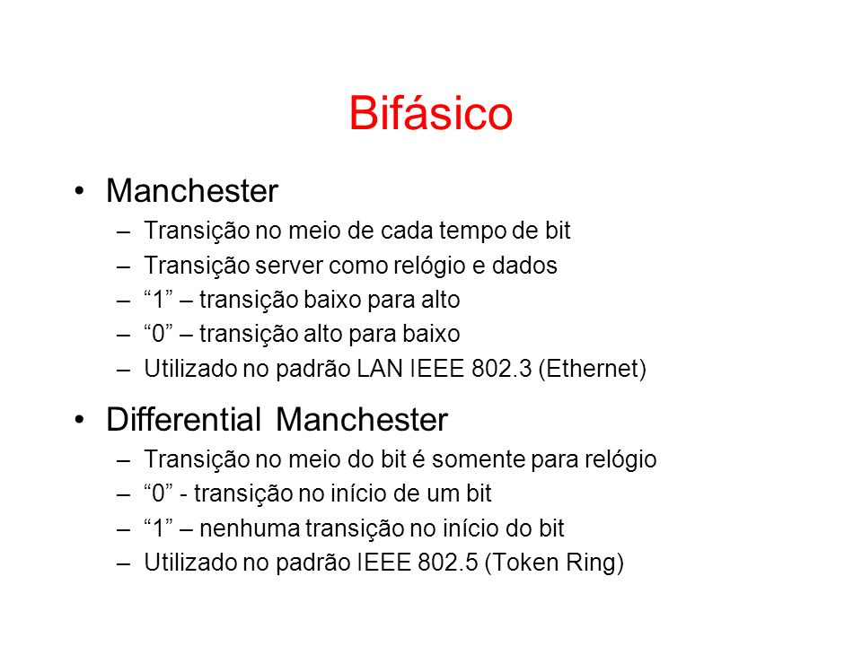 Bifásico Manchester Differential Manchester