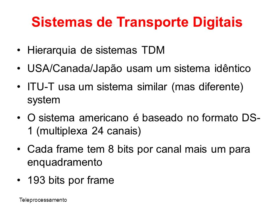 Sistemas de Transporte Digitais