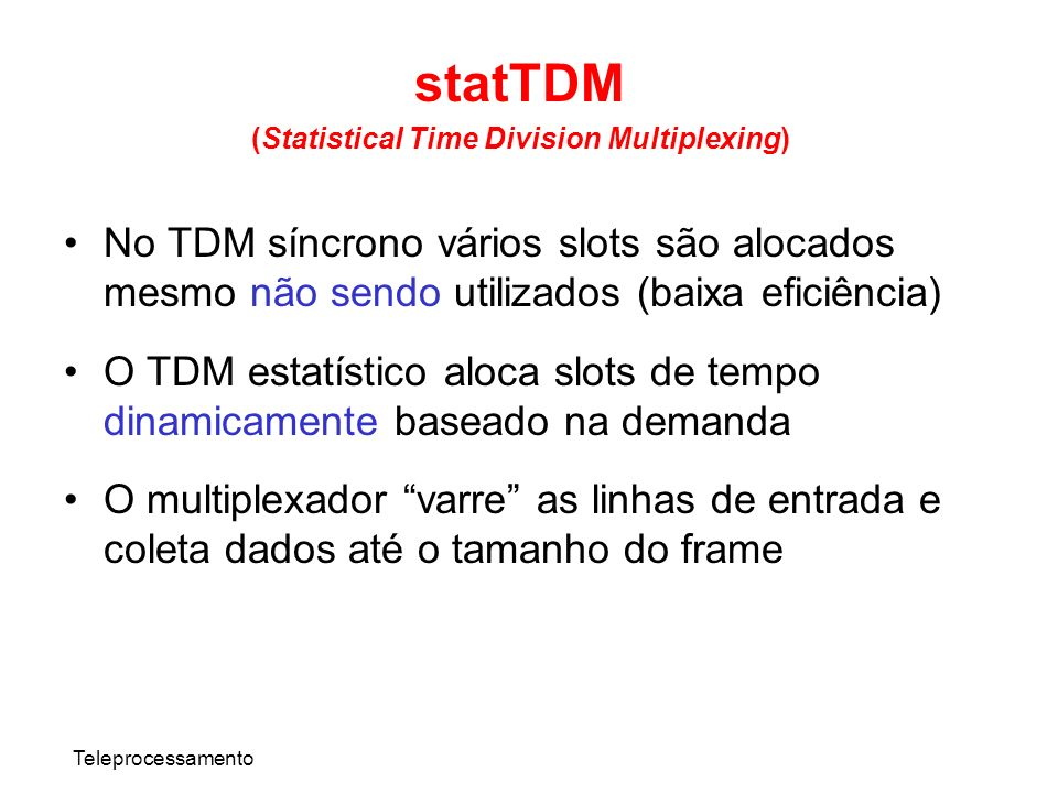 (Statistical Time Division Multiplexing)