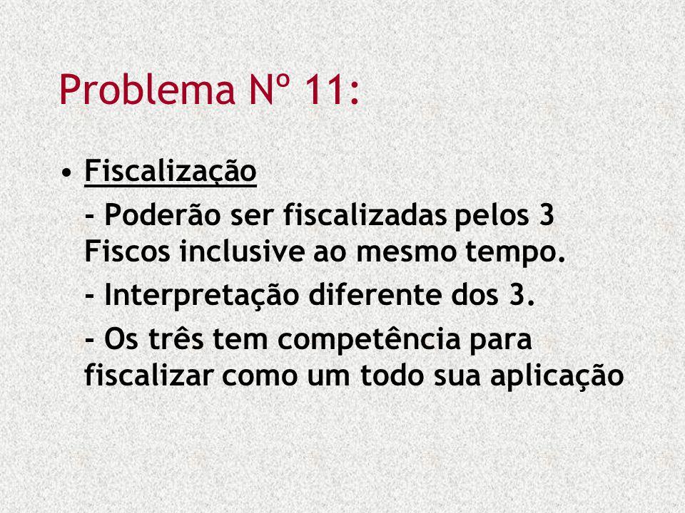 Problema Nº 11: Fiscalização