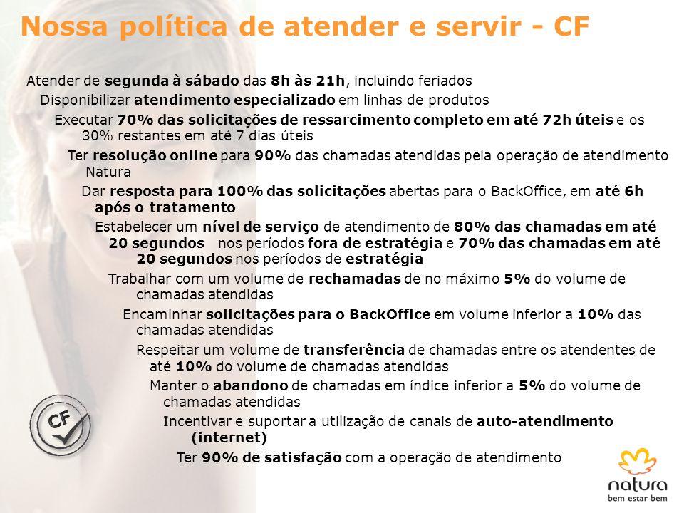 Nossa política de atender e servir - CF