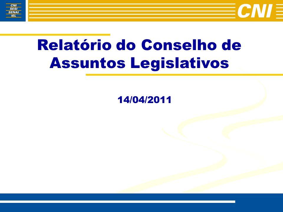 Relatório do Conselho de Assuntos Legislativos