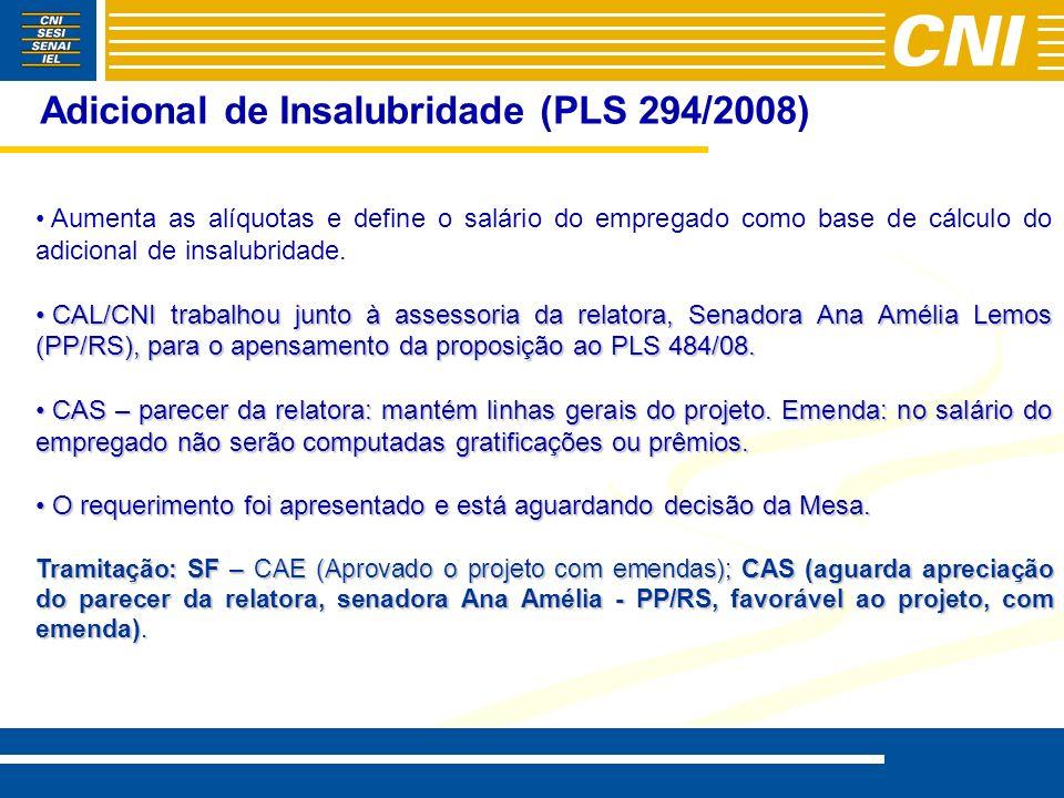 Adicional de Insalubridade (PLS 294/2008)