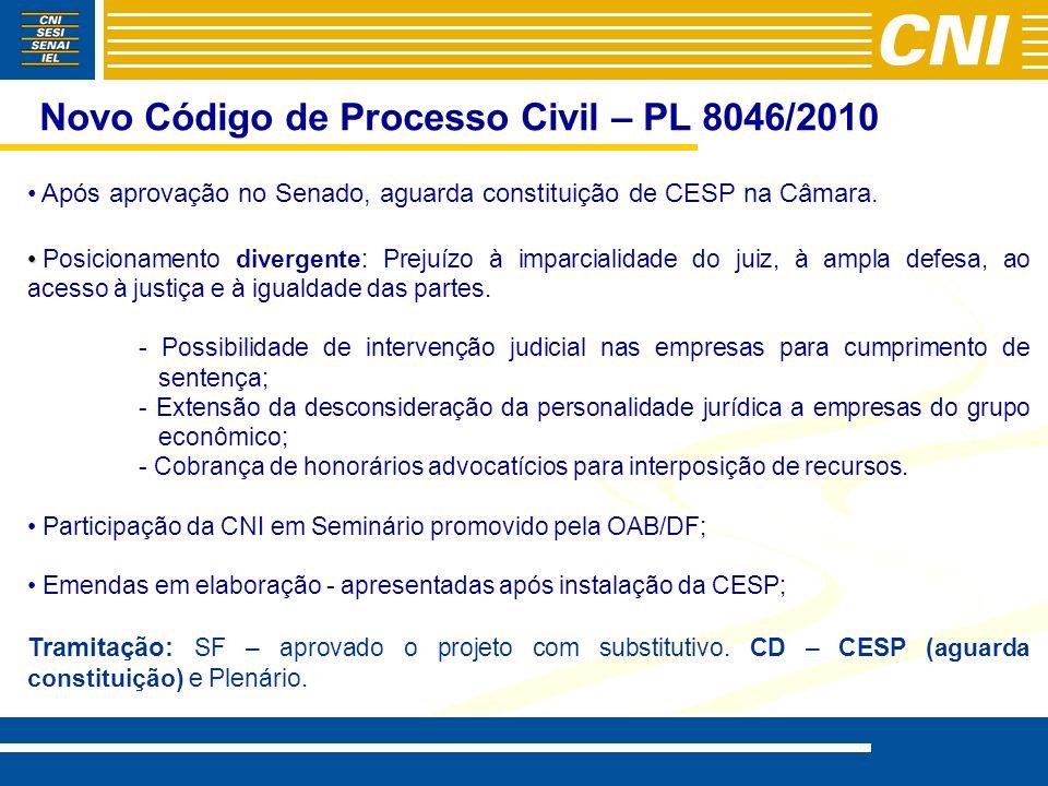 Novo Código de Processo Civil – PL 8046/2010