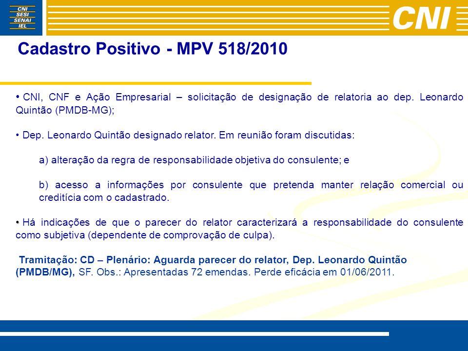 Cadastro Positivo - MPV 518/2010
