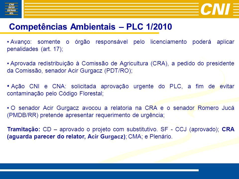 Competências Ambientais – PLC 1/2010
