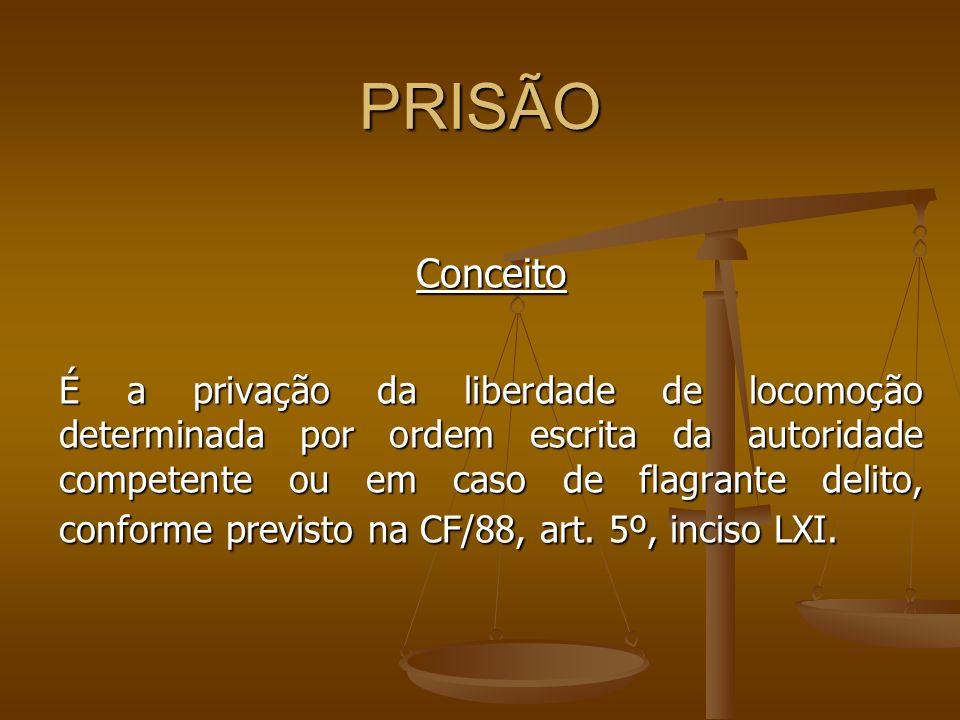 PRISÃO Conceito.