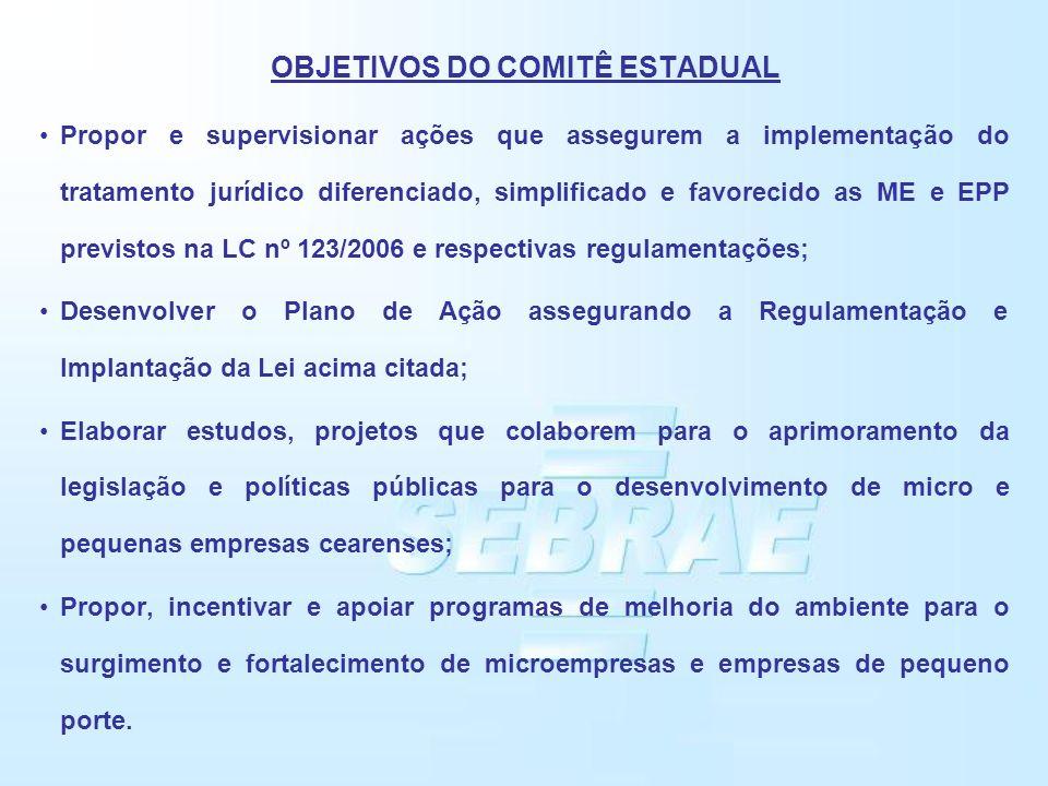 OBJETIVOS DO COMITÊ ESTADUAL