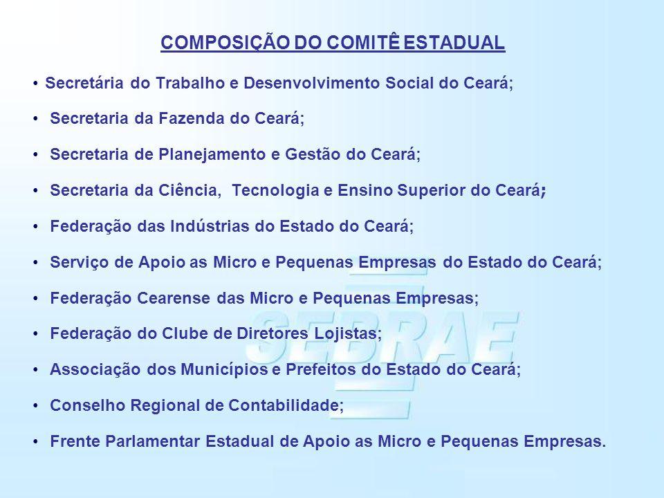 COMPOSIÇÃO DO COMITÊ ESTADUAL