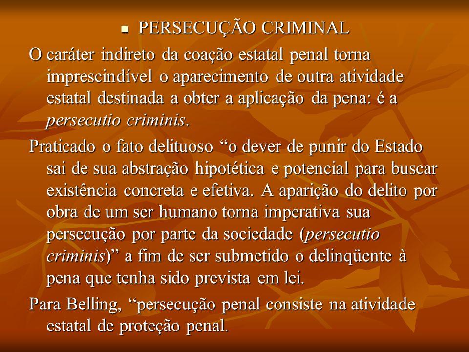 PERSECUÇÃO CRIMINAL