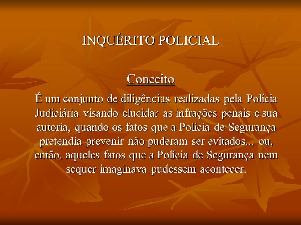 INQUÉRITO POLICIAL Conceito.