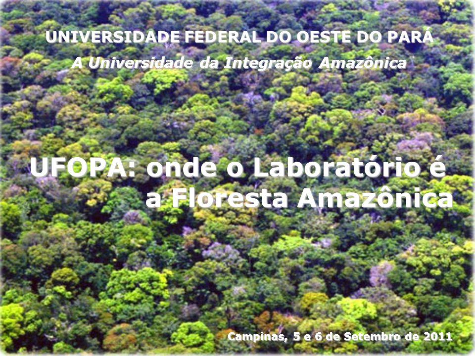 UFOPA: onde o Laboratório é a Floresta Amazônica