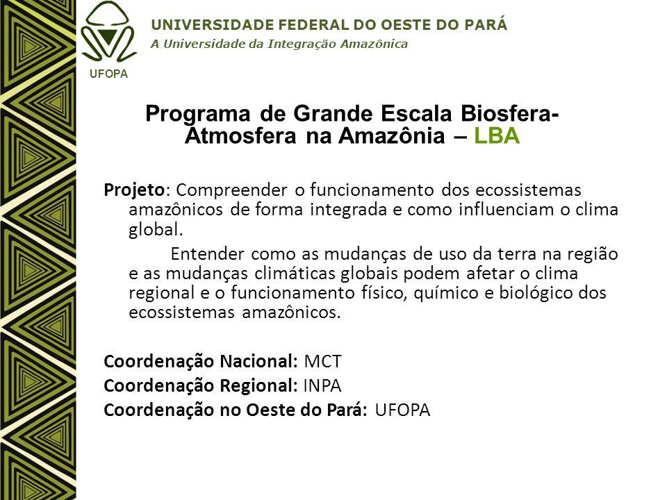 Programa de Grande Escala Biosfera-Atmosfera na Amazônia – LBA