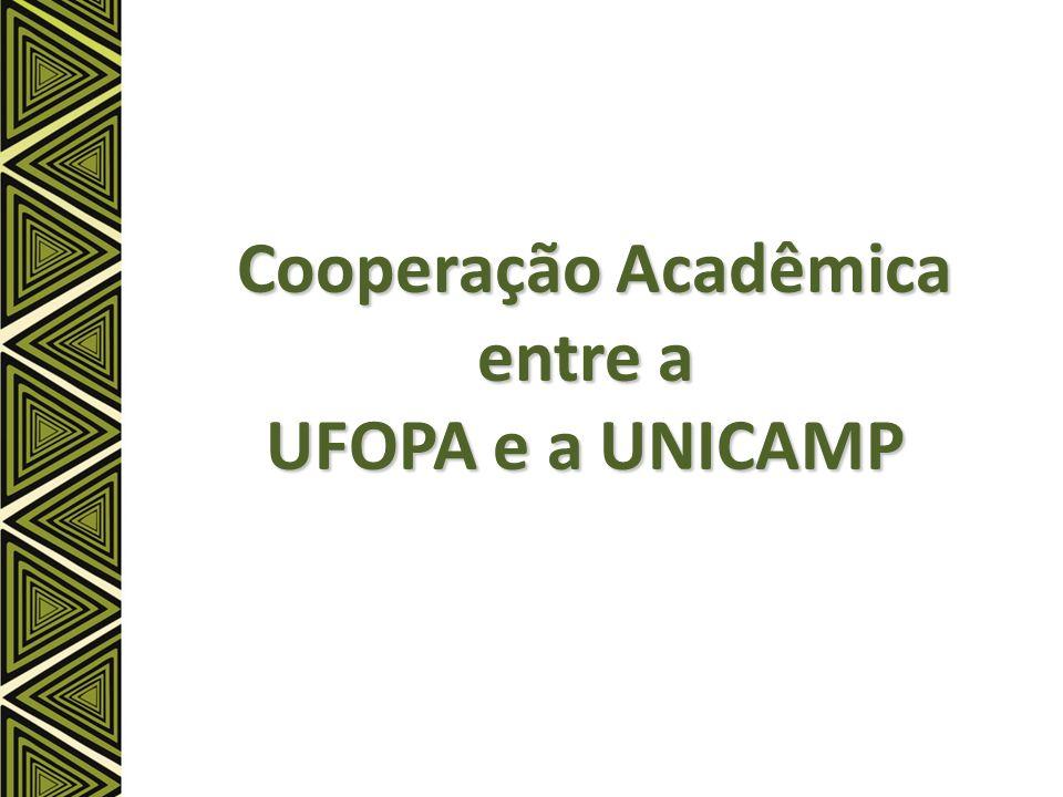 Cooperação Acadêmica entre a UFOPA e a UNICAMP