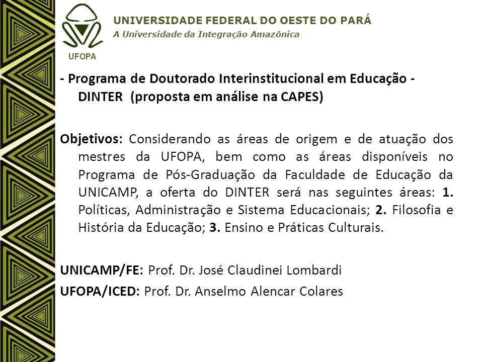 UNICAMP/FE: Prof. Dr. José Claudinei Lombardi