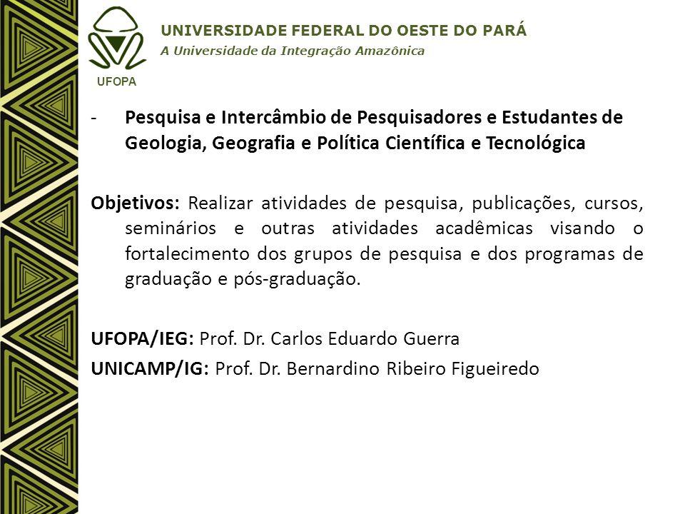UFOPA/IEG: Prof. Dr. Carlos Eduardo Guerra