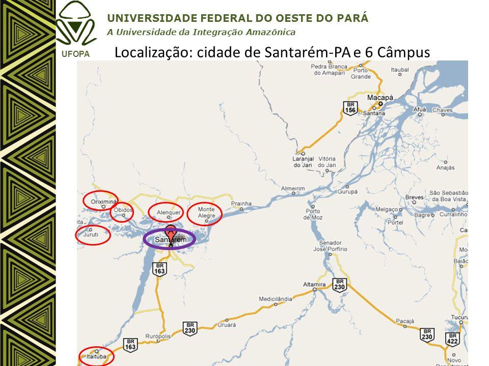 Localização: cidade de Santarém-PA e 6 Câmpus