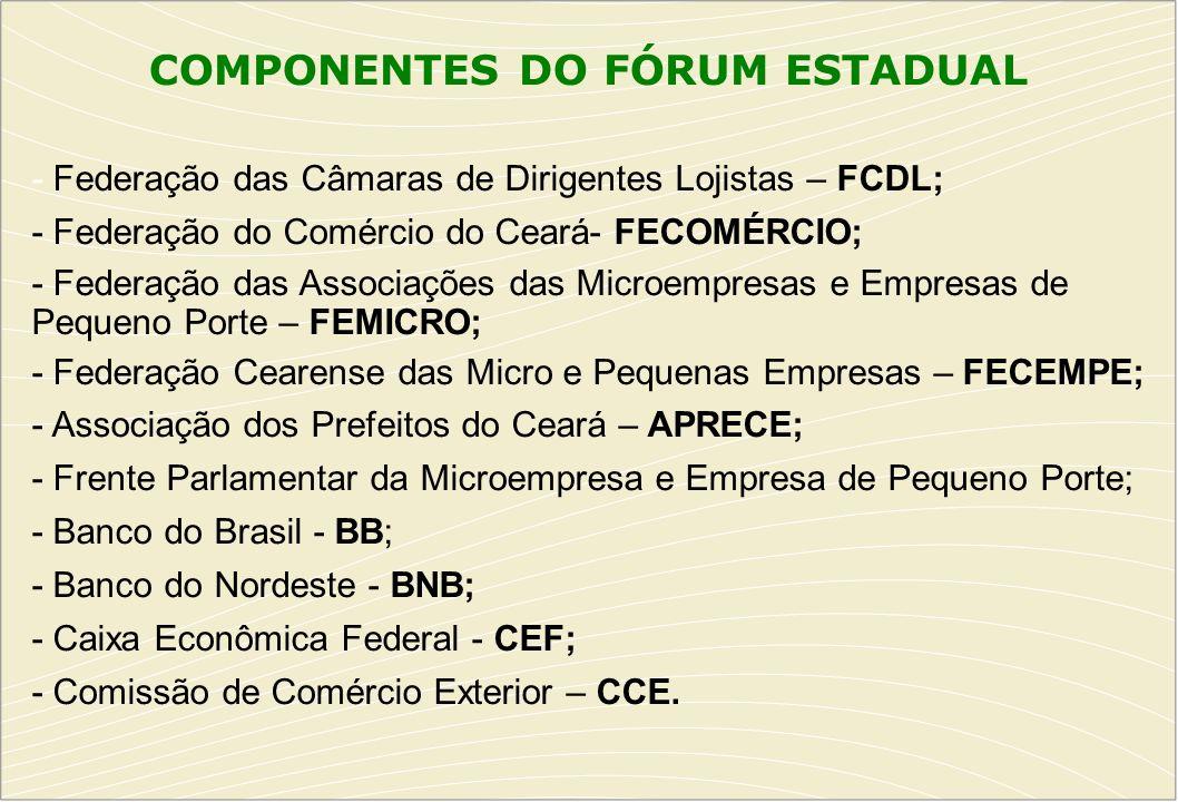 COMPONENTES DO FÓRUM ESTADUAL
