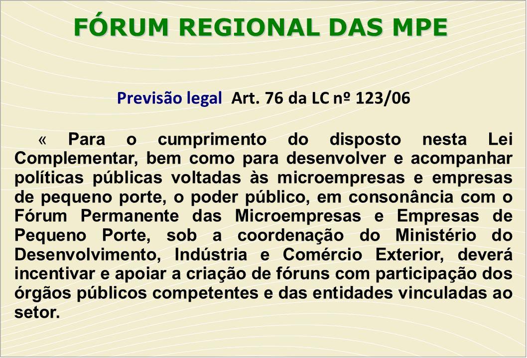 Previsão legal Art. 76 da LC nº 123/06