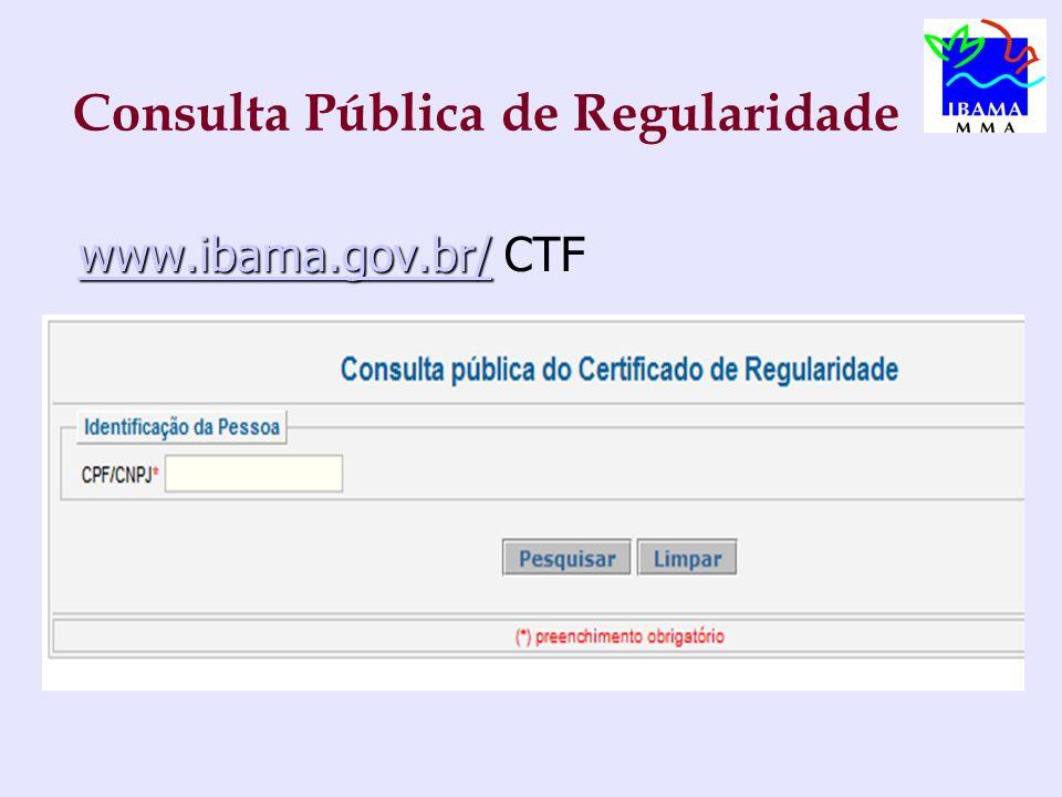 Consulta Pública de Regularidade