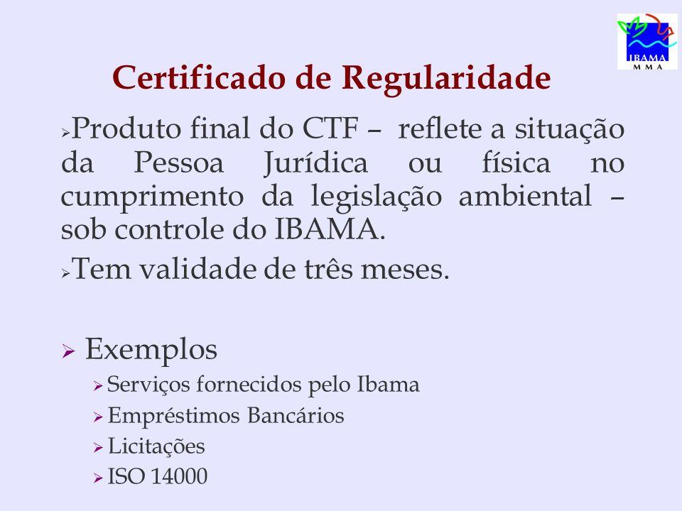 Certificado de Regularidade