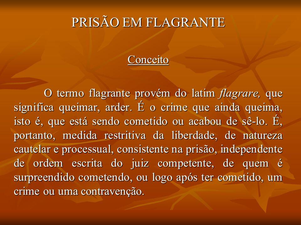 PRISÃO EM FLAGRANTE Conceito