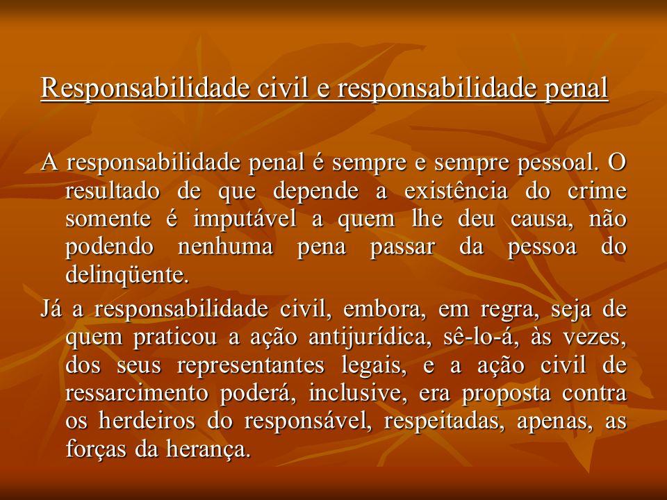 Responsabilidade civil e responsabilidade penal