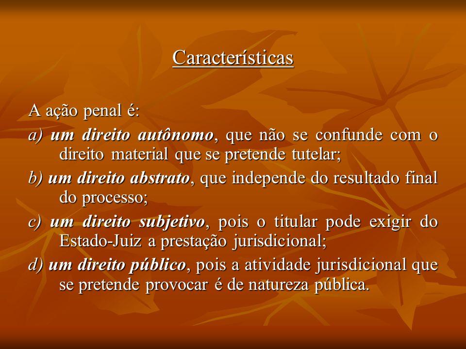 Características A ação penal é: