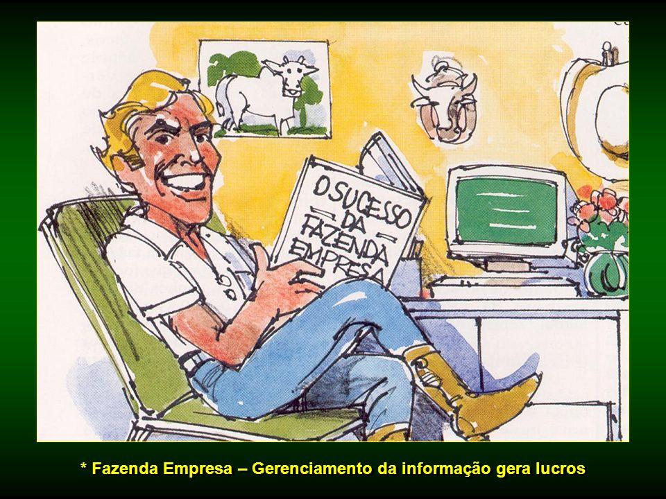 * Fazenda Empresa – Gerenciamento da informação gera lucros