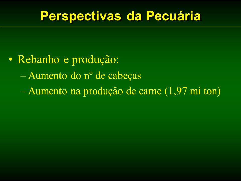 Perspectivas da Pecuária