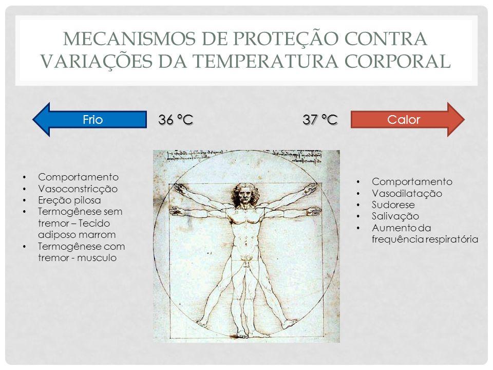 MECANISMOS DE PROTEÇÃO CONTRA VARIAÇÕES DA TEMPERATURA CORPORAL