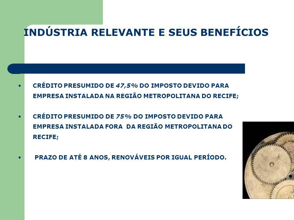 INDÚSTRIA RELEVANTE E SEUS BENEFÍCIOS