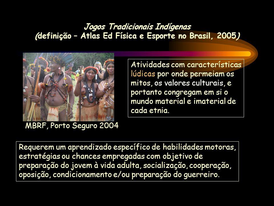 Jogos Tradicionais Indígenas (definição – Atlas Ed Física e Esporte no Brasil, 2005)