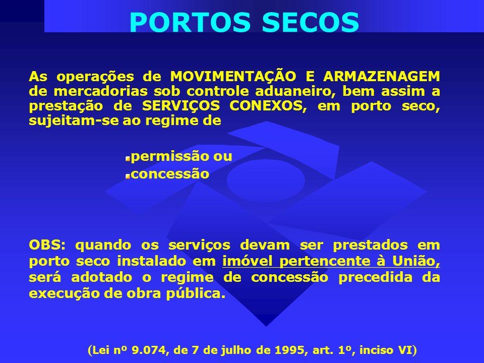 (Lei nº 9.074, de 7 de julho de 1995, art. 1º, inciso VI)