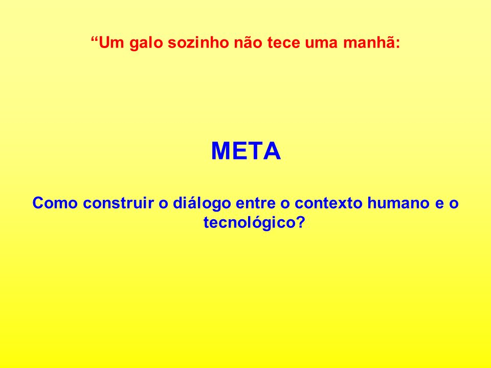 Como construir o diálogo entre o contexto humano e o tecnológico