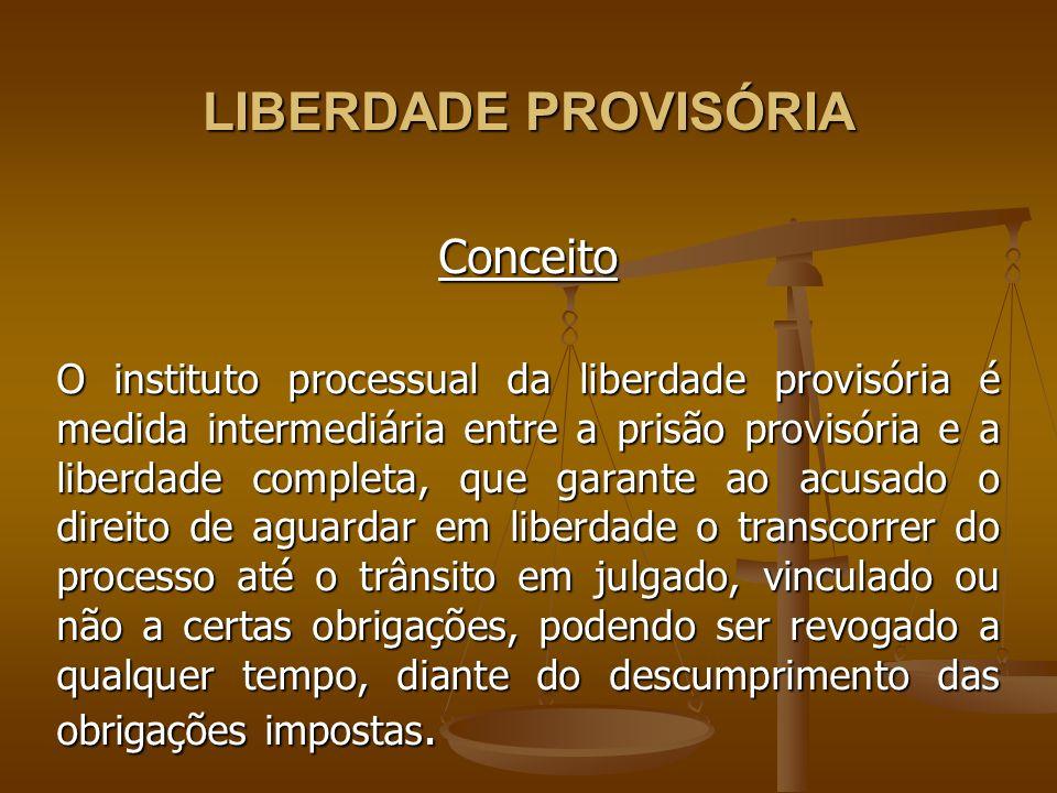 LIBERDADE PROVISÓRIA Conceito