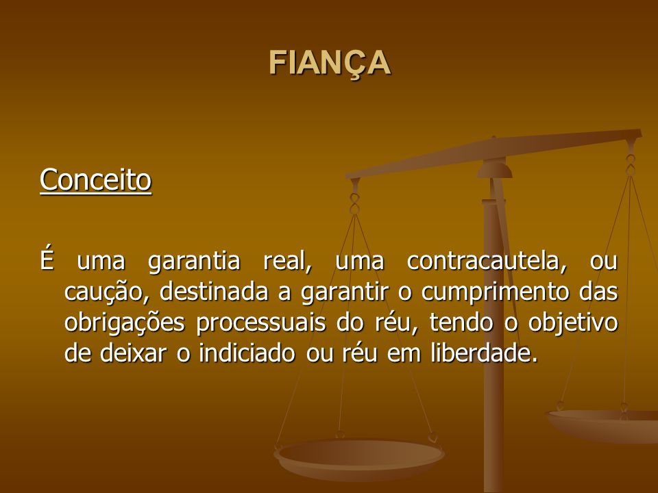 FIANÇA Conceito.