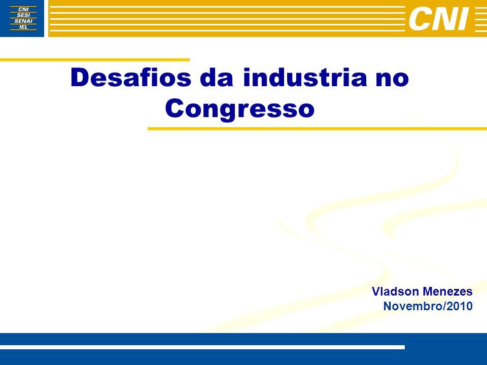Desafios da industria no Congresso