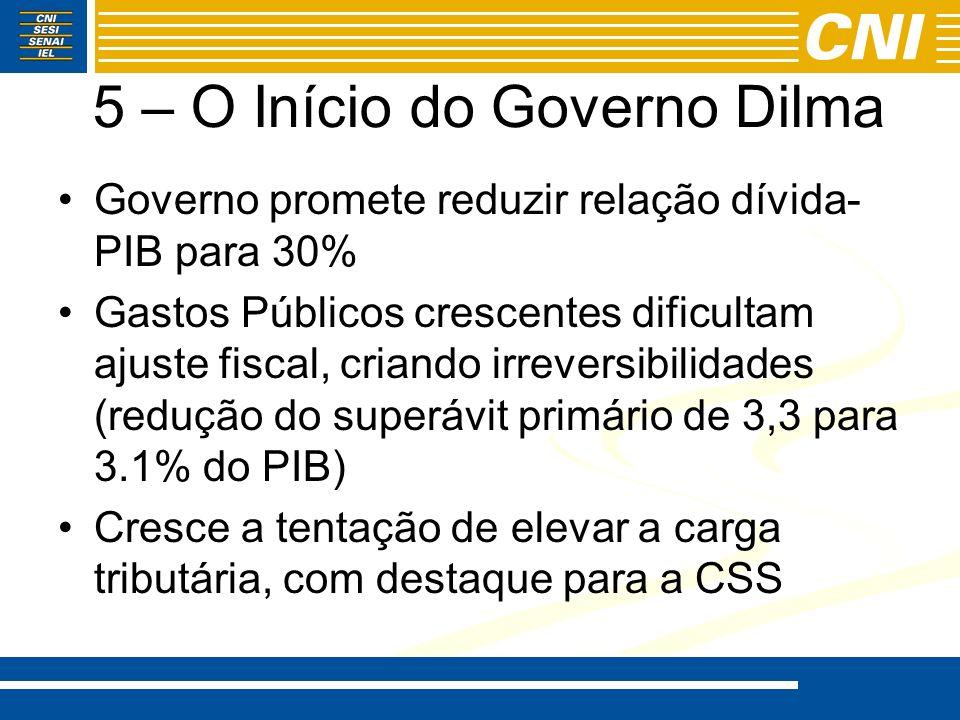 5 – O Início do Governo Dilma
