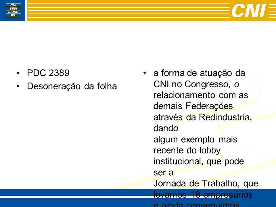 PDC 2389 Desoneração da folha.