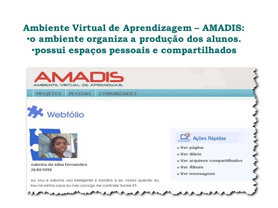 Ambiente Virtual de Aprendizagem – AMADIS: